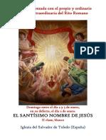 Santísimo Nombre de Jesús. Propio y Ordinario de la santa misa