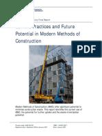 Modern Methods of Construction - Summmary