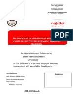 THE IMPORTANT OF MANAGEMENT INFORMATIOIN SYSTEM ON  NEXTELL PERFORMANCE 1.docx