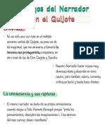Esquema Juegos del narrador en el Quijote
