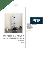 TP route teneur en eau emulsion