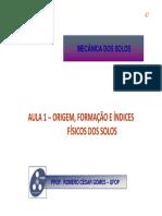 01_Origem, Formação e Índices Físicos Dos Solos