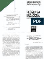 SANTOS FILHO - Pesq Quanti X Quali