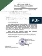 Surat Pengantar SK Dirjen Petunjuk Teknis Uji Coba AKSI Madrasah