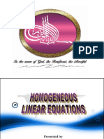Homogenous Linear Equations