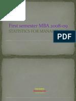 module-1 statistics