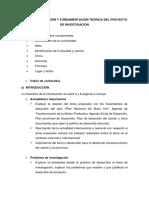 INTRODUCCION y MARCO TEORICO - PROYECTOS DE INVESTIGACIÓN (1)