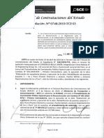 RESOLUCION N°748-2019-TCE-S3 (RECURSO APELACION - PERDIDA BUENA PRO - SIMILAR CASO ACUÑA)