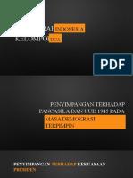 SEJARAH INDONESIA PENYIMPANGAN PADA MASA DEMOKRASI TERPIMPIN