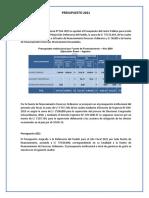 Resumen Del Presupuesto 2021