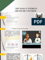ANÁLISIS DE MASA Y ENERGÍA