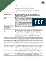 procurement terminology