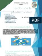 GESTION DE LA PRODUCTIVIDAD