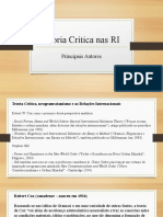 Apresentação - Teoria Crítica nas RI - Principais autores.pptx