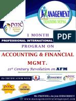 Accounting & Financial Mgmt.Training International Degree program....