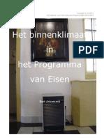 Het binnenklimaat in het programma van eisen