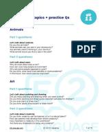 E2 IELTS - 20 Speaking Topics