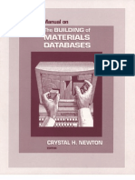 Manual on the Building of Materials Databases