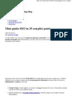 Mini-guida SEO in 35 semplici punti