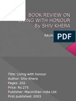 BOOK REVIEW on Living With Honour