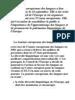 La Journée européenne des langues
