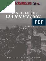 Principles of Marketing Q2 M1 November 9 ,2020