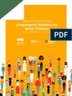Apostila do curso Linguagem Simples no Setor Público