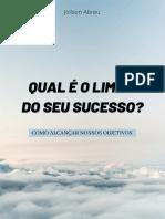 Qual é o limite do seu sucesso - Joilson Abreu