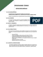 ESPECIFICACIONES TÉCNICAS DE LA M.P.A.