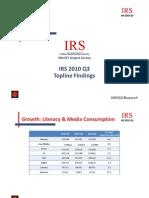 IRS 2010 Q3 Toplines