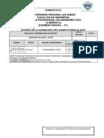 EXAMEN PARCIAL DE CAMINOS II (2020-II - C1)