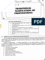 Traditional classification of propositions
