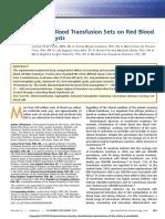EFECTOS DE HEMOLISIS EN LA TRANSFUSION