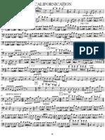 Californication - RHCP Bass Sheet