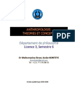 Cours Anthropologie sequence 1 département philo