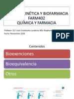 Clase Nº12 Farmacocinética y Biofarmacia