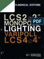 Omega Lighting-Erco Monopoll & Varipoll Linear Cylindrical Systems Catalog 10-86