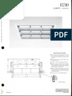 Omega Lighting H7110 CFL Parabolic 12x12 Downlight Spec Sheet 5-86