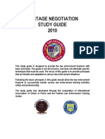Hostage Negotiation Study Guide - Federal Law Enforcement Training - 2010
