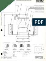 Omega Lighting C3212TW INC PAR-38 Paracone Downlight Spec Sheet 1-86