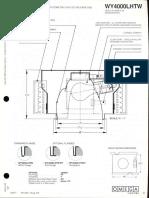 Omega Lighting WY4000LHTW INC A-Lamp Wallwash Downlight Spec Sheet 1-86