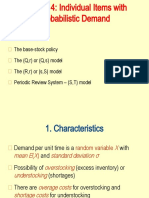 Chapter 4 - Single item - Probabilistic Demand