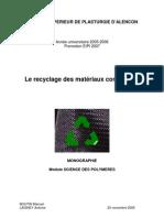 Le recyclage des materiaux composites