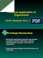 Practical Application of Ergonomics
