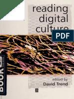 David Trend - Reading Digital Culture