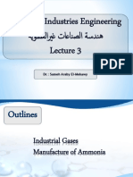 Lecture 3 Industrial Gases+ Ammonia 2019
