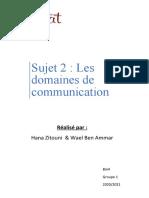 les domaines de communication