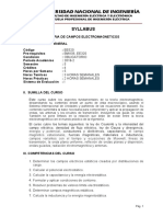 EE520 Syllabus TEORIA DE CAMPOS ELECTROMAGNETICOS