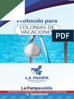 Protcolo Para Colonias de Vacaciones Acutualizado Diciembe 2020