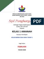 Sijil Penghargaan kELAS cERIA bERSIH feb 2020